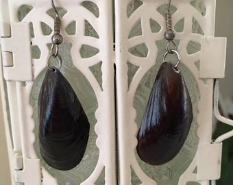 Mussel Shell Mermaid Earrings