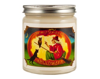 Halloween Candle, Scented Candle, Witch Candle, Vintage Halloween, Soy Candle, Container Candle, Halloween Decor, Halloween Witch