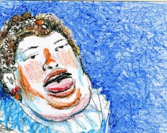 Postcard Fat Woman