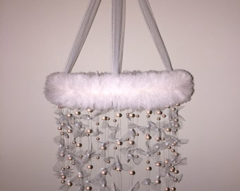 Pink Pearl Tulle Mobile
