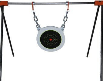 """Target Stand And AR500 3/8"""" x 8"""" Gong Steel Shooting Target."""