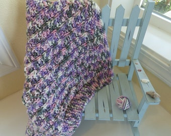 Knitted Mini Blanket - Pink