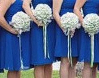 Bridesmaid/Flower girl fabric wedding ball bouquet