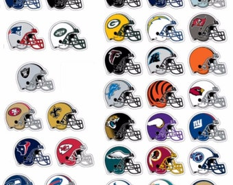 Complete Set Officially Licensed NFL Football Helmet Stickers Decal Logo Team Emblem Decorations Cowboys Steelers Patriots Packers Ornaments