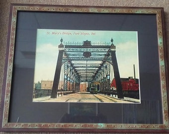 Framed St. Mary's Bridge in Fort Wayne Indiana