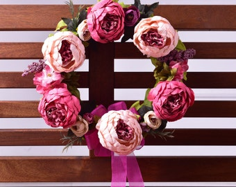 Pink Dream Door Wreath