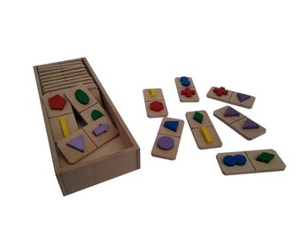 Wooden toy - domino game