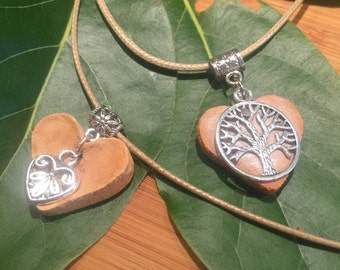 Avocado Necklace - Tree of life, or Heart. One of a Kind. Carved from the heart of the avocado.