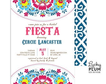 Fiesta Bridal Shower Invitation / Fiesta Engagement Invitation