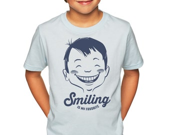 Smiling is My Favorite: Kid's Unisex Soft Blend T-Shirt