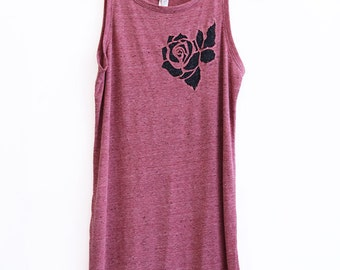 Rose Cut-Out Triblend Tank Dress