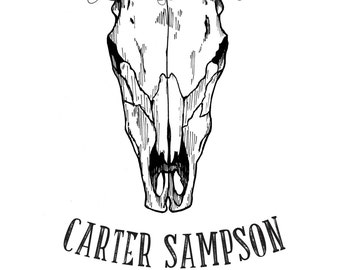 Signed Screen Printed Carter Sampson Poster