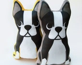 Boston Terrier Plush Pillow