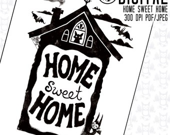 Home Sweet Home - Instant Digital Download - Printable Artwork