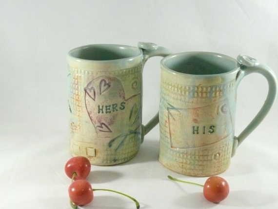personalized ceramic mugs his and hers coffee cups. Black Bedroom Furniture Sets. Home Design Ideas