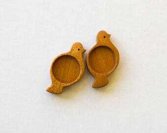 Artisan quality neat finish hardwood bezel trays  - Mahogany - 18 mm - Circle - (X418-M) - Set of 2