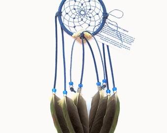 Cobalt Blue Dream Catcher, Amazon Parrot Feathers