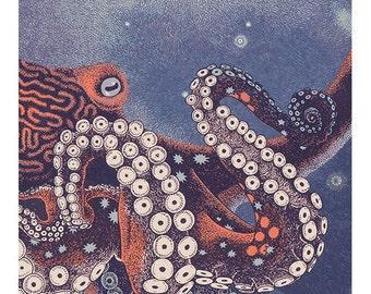Octopus silkscreen