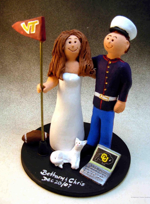 US Marine Wedding Cake Topper Soldiers Wedding Cake Topper