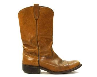 Ariat Cowboy Boots / Medium Brown Leather / Women's Size 12.5 / Men's Size 11