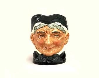 Royal Doulton Granny Toby Mug Small 3 3/8 Inch Vintage Character Jug D6384