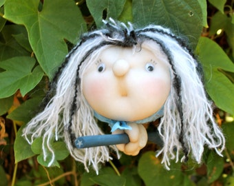 Zelenia the Moon Witch - Kitchen Witch Doll - Herb Witch - Green Witch - Good luck doll for your kitchen!