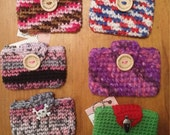 Mini Super Awesome All Purpose Crochet Pouch - your choice of color!