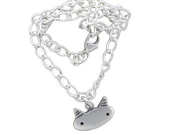 Sterling Silver Single Charm Bracelet - Starter Bracelet - Choose Your Charm