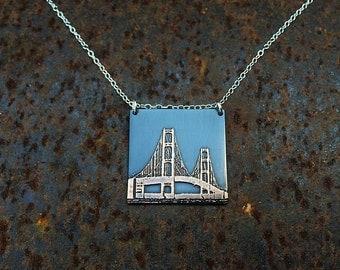 Mackinac Bridge pendant   Mackinac necklace   Mackinac Island   Michigan jewelry