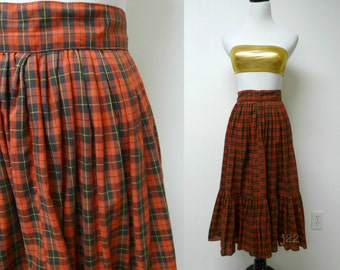 "vintage plaid full skirt . fits a small . 25"" waist"