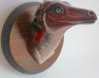 OOAK Velociraptor Mongoliensis Mount