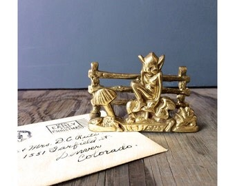 Letter Holder - Elf and Mushrooms