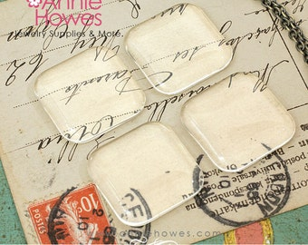 1 in Square Clear Puffy glass tiles. 25mm Clear Puffy Glass Square Shapes Tiles for Pendants and Magnets. 5 Pack.