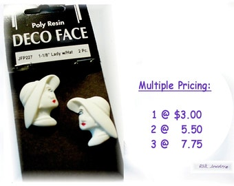Lady Face Cabochon for Jewelry - Lady Face for Beading Painting Jewelry - S42