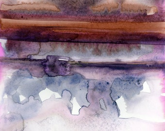 Introspection No.15 ... Original Abstract Watercolor painting by Kathy Morton Stanion EBSQ