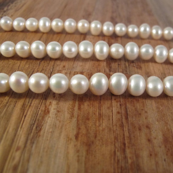 Brilliant White Freshwater Pearls, 9mm x 7.5mm, Large Potato Pearls, 15.5 Inch Strand with About 50 Pearls (P-P13)