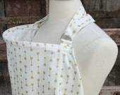 Nursing Cover-Gold Arrows-Free Shipping When Purchased With A Wrap