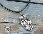 Owl Pendant Necklace - Inspired by Antique Victorian Silverware - Doctorgus Handmade Jewelry Creations - Steampunk Boho Style Owl Pendant