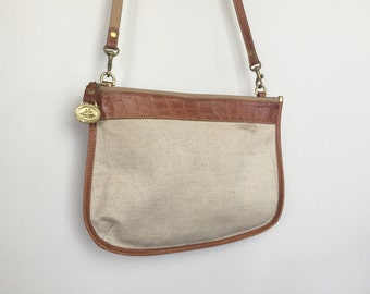 Marin - Vintage Canvas and Leather Purse by Brahmin.