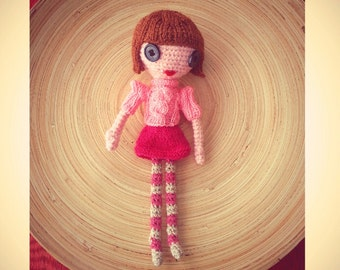Amigurumi Doll Button Eyes