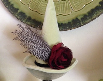 Elegant Witch Hat, Witches Mini Hat, Top Hat, Halloween Fascinator