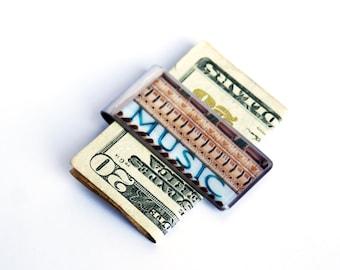 MONEY CLIP - Moneyclip, Money Clips for Men, Best Graduation Gift, Gift for Dad, Music Teacher Gift, Groomsmen Gift, Gift for Brother