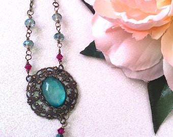 Victorian Necklace Bohemian vintage style Art Nouveau steampunk mermaid jewelry sea punk Victorian necklace