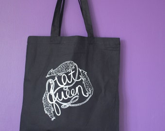 Rat Queen Tote in Black