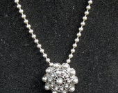 Vintage Sterling Silver Handcrafted Pendant/Brooch with Sterling Ball Chain Necklace