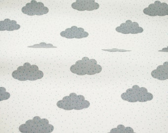 Clouds in White from the Bonne Nuit collection from Camelot Fabrics - fabric by the quarter yard