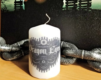 Dragon Eyes Apothecary Bottle Label 2x3 Pillar Candle