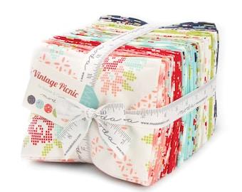 SALE 30% off Vintage Picnic fabric precut, Bonnie and Camille fabric, ENTIRE LINE in Fat Quarters, Precut Fabric bundle, Thimble Blossoms