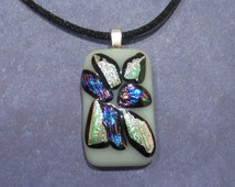 Explosion Necklace, White, Green, Purple, Blue, Etsy Fashion Jewelry - Powered - 1727 -5