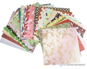 41pc Scrapbooking Paper Pack, Japanese Print Origami Papers, Floral Animals Washi, Journalling Decoupage Scrap Supplies Lot, Ephemera -Set I